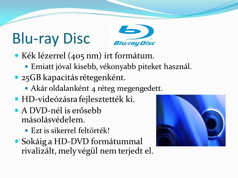 Blu-ray Disc Kék lézerrel (405 nm) írt formátum.