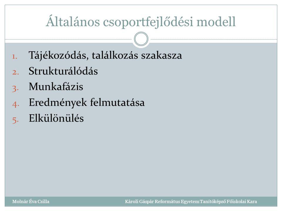 Általános csoportfejlődési modell