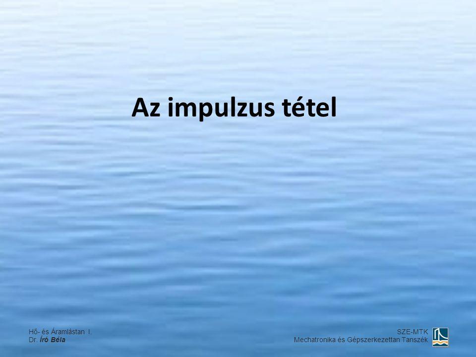 Az impulzus tétel Hő- és Áramlástan I. Dr. Író Béla SZE-MTK