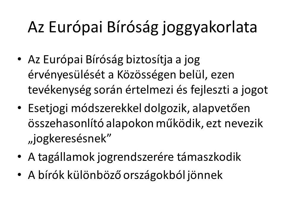 Az Európai Bíróság joggyakorlata