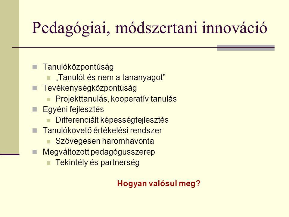 Pedagógiai, módszertani innováció