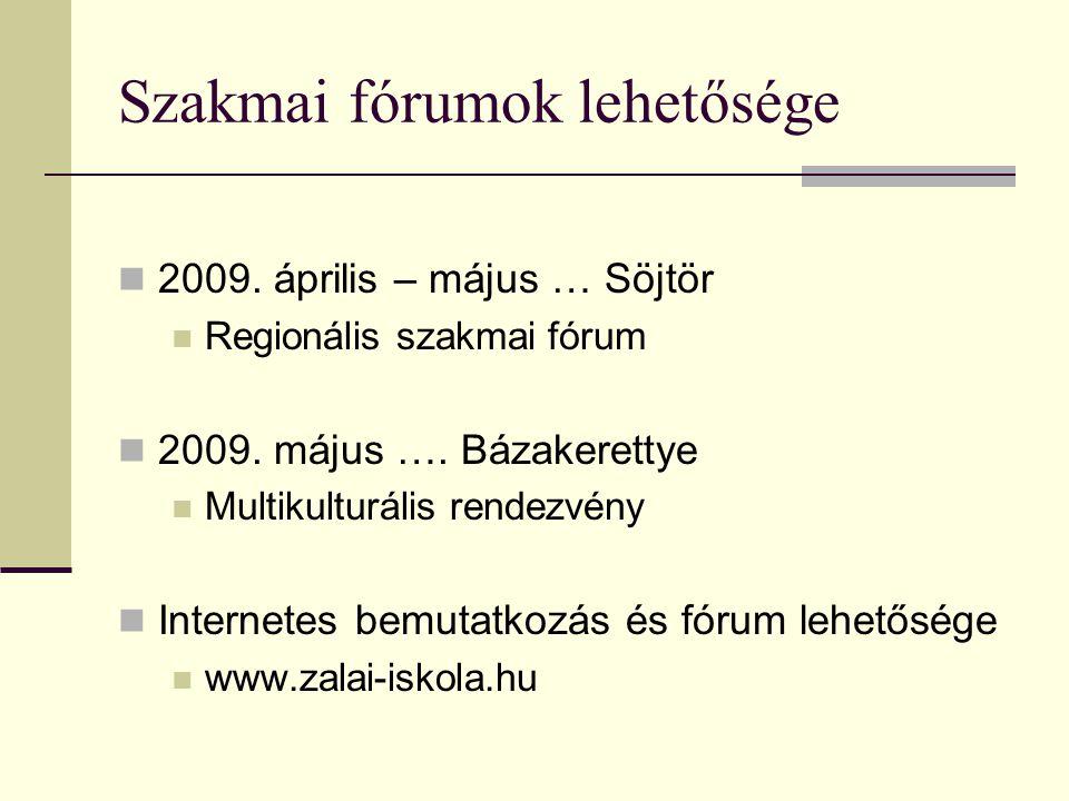 Szakmai fórumok lehetősége