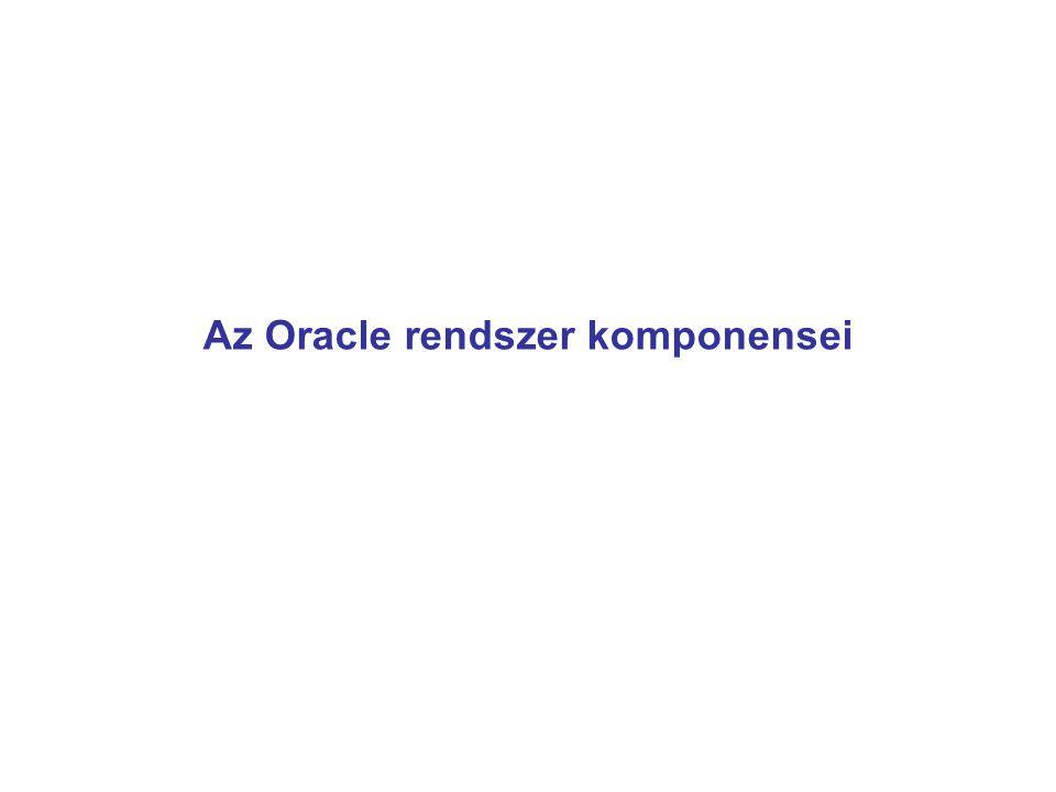 Az Oracle rendszer komponensei