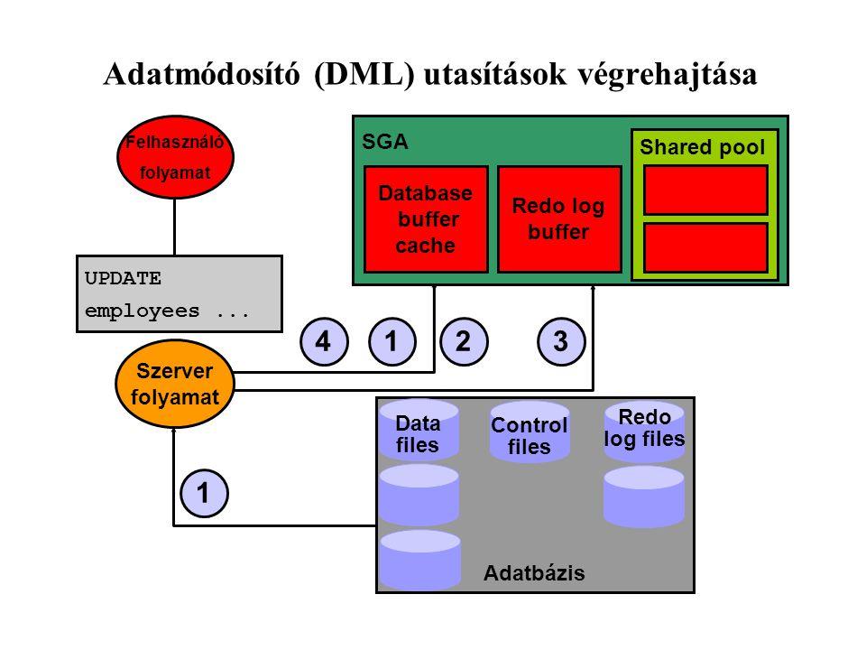 Adatmódosító (DML) utasítások végrehajtása