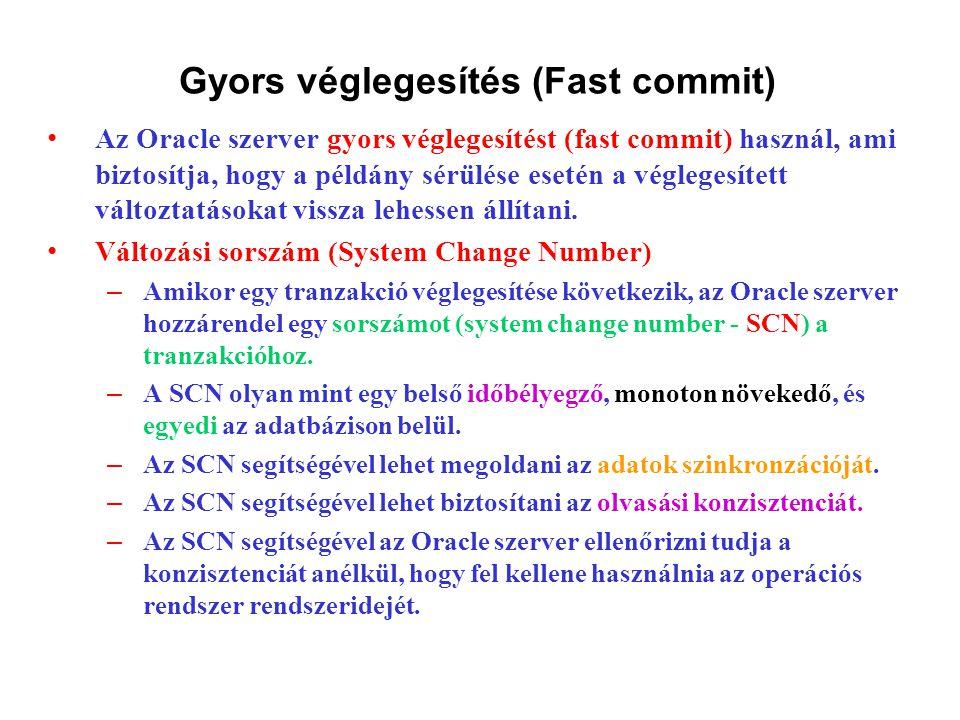 Gyors véglegesítés (Fast commit)