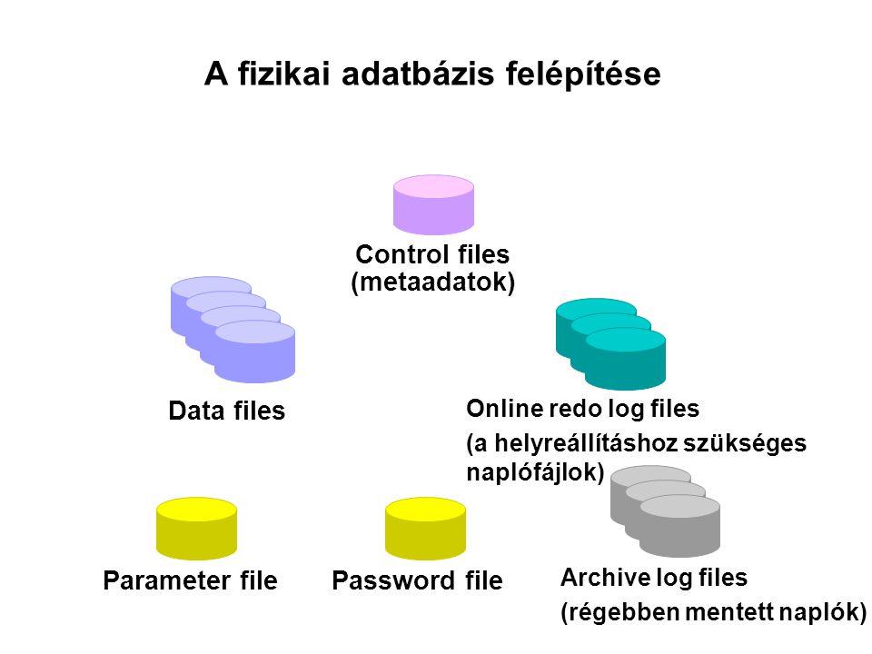 A fizikai adatbázis felépítése