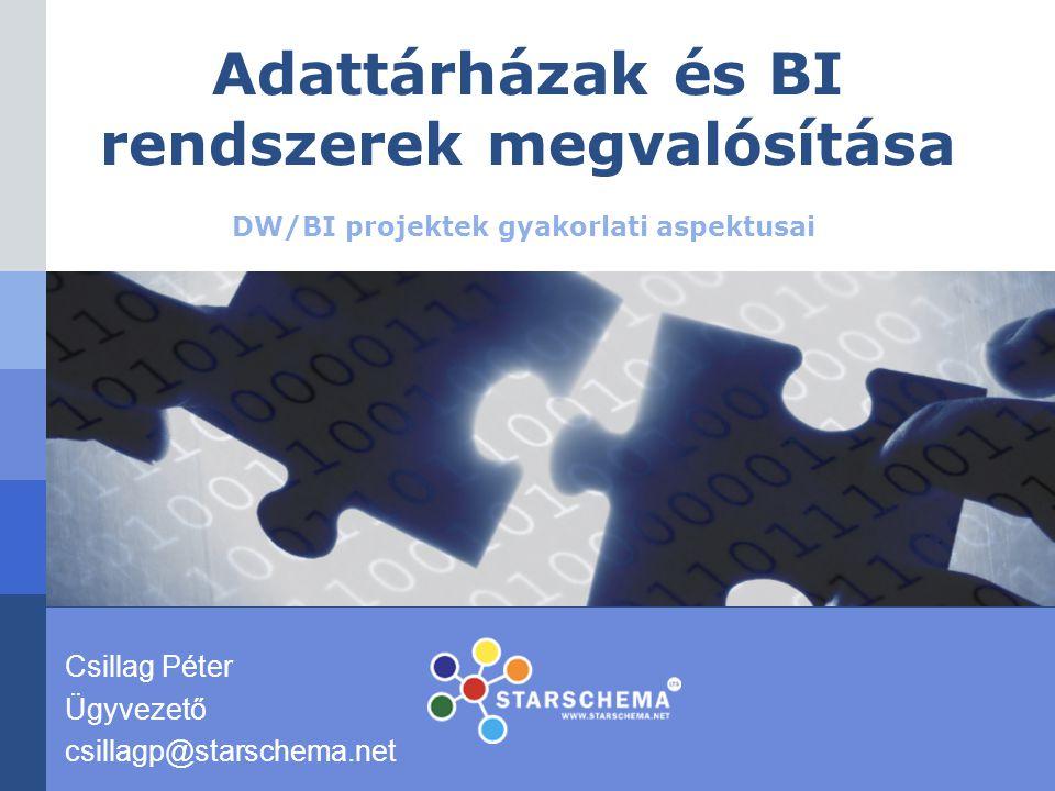Adattárházak és BI rendszerek megvalósítása
