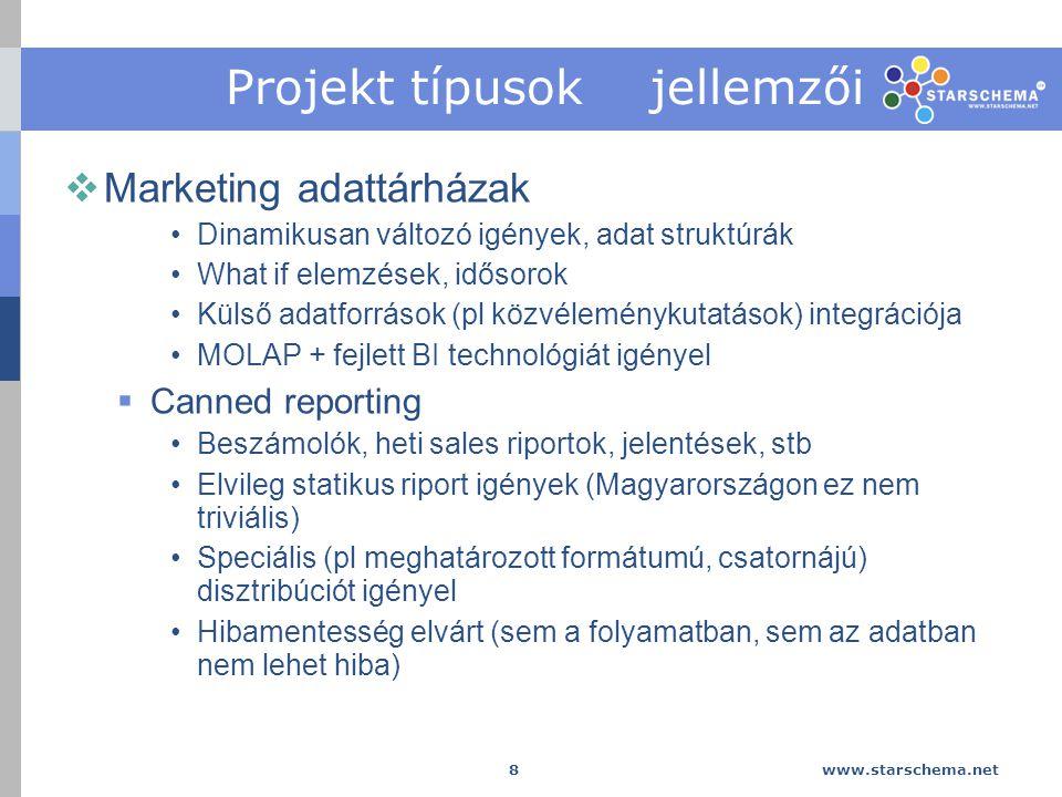 Projekt típusok jellemzői