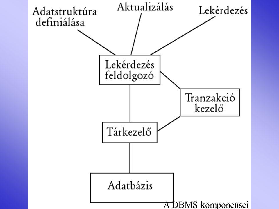 A DBMS komponensei