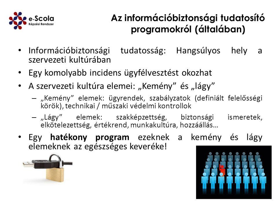 Az információbiztonsági tudatosító programokról (általában)