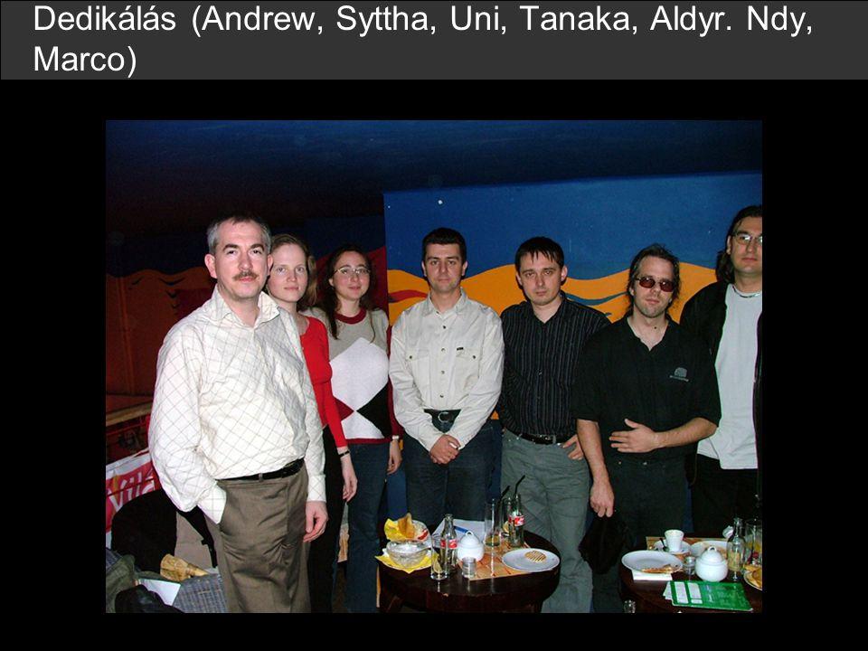Dedikálás (Andrew, Syttha, Uni, Tanaka, Aldyr. Ndy, Marco)