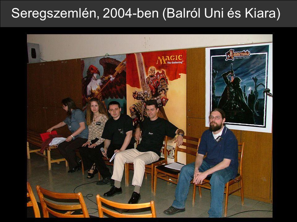 Seregszemlén, 2004-ben (Balról Uni és Kiara)
