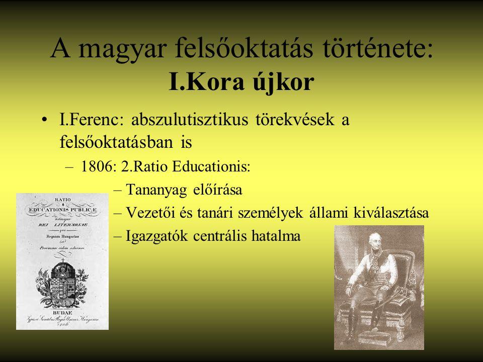 A magyar felsőoktatás története: I.Kora újkor