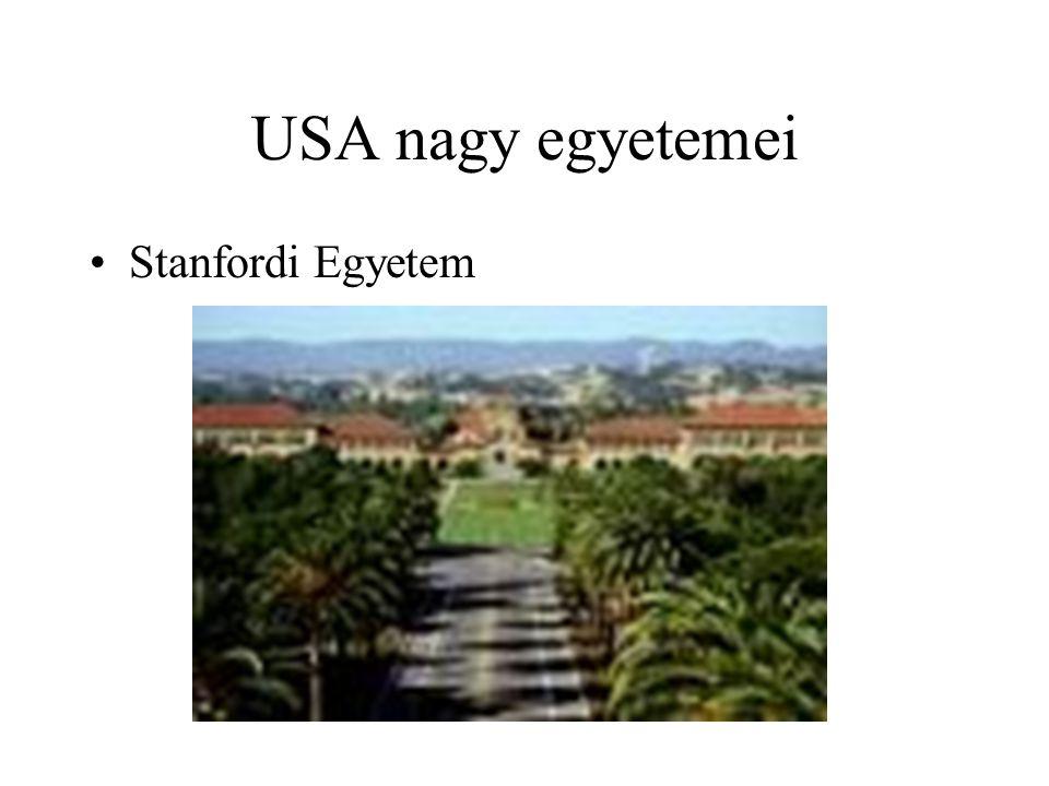 USA nagy egyetemei Stanfordi Egyetem