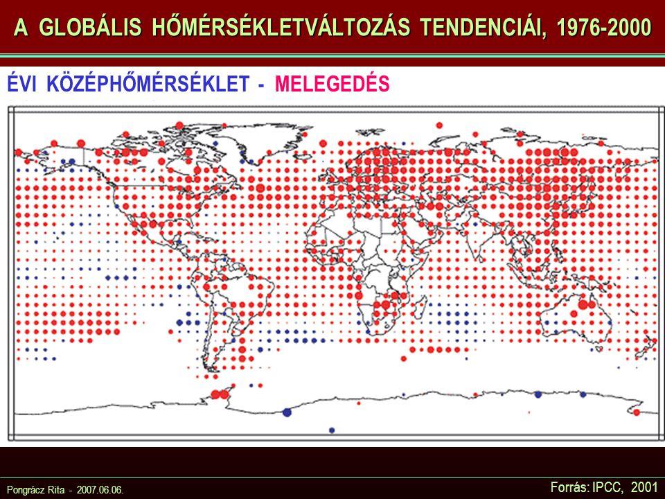 A GLOBÁLIS HŐMÉRSÉKLETVÁLTOZÁS TENDENCIÁI, 1976-2000