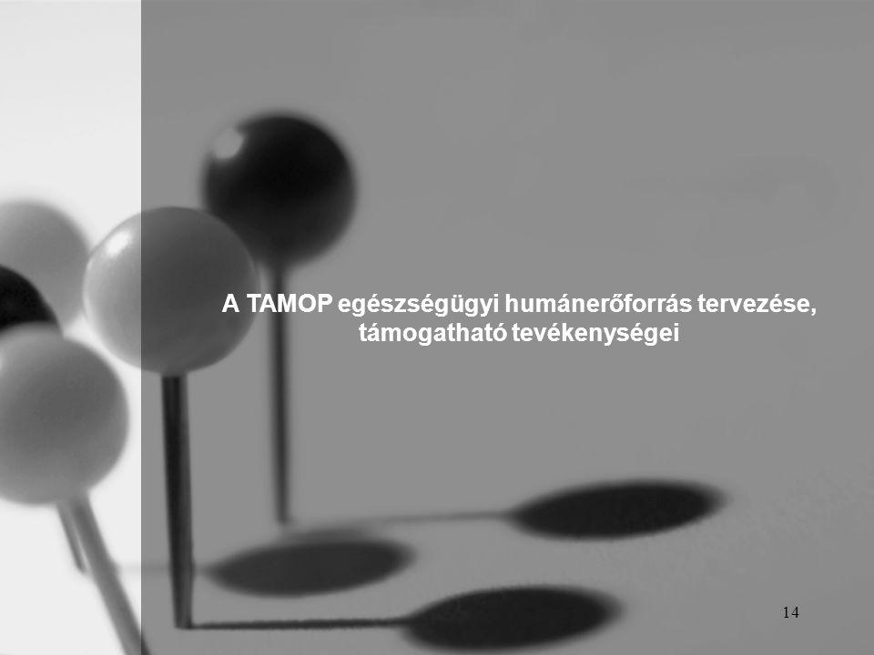 A TAMOP egészségügyi humánerőforrás tervezése,