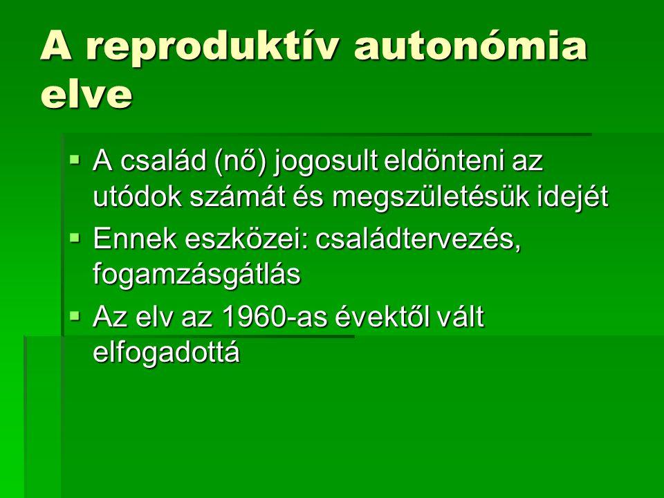 A reproduktív autonómia elve