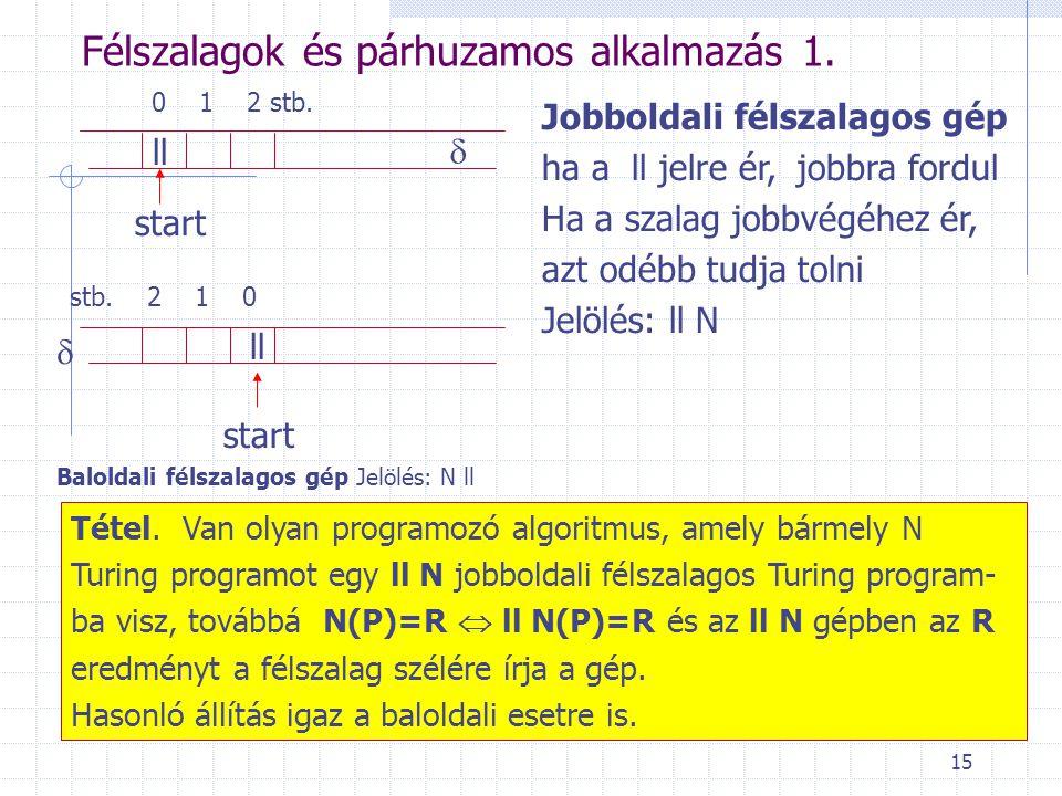 Félszalagok és párhuzamos alkalmazás 1.