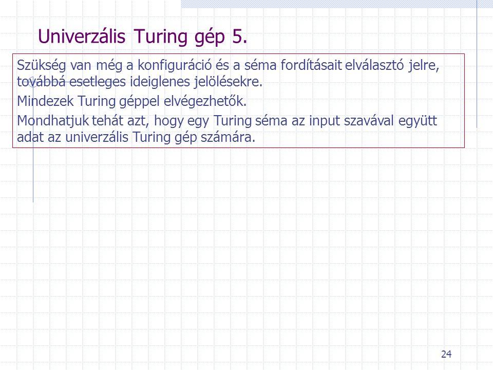 Univerzális Turing gép 5.