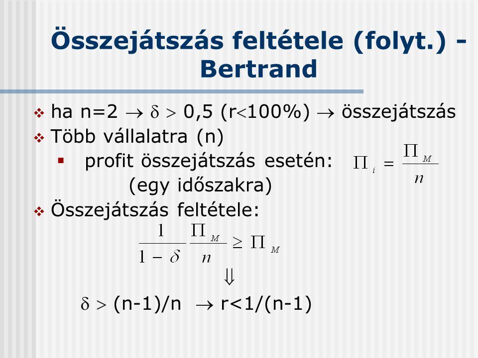 Összejátszás feltétele (folyt.) - Bertrand
