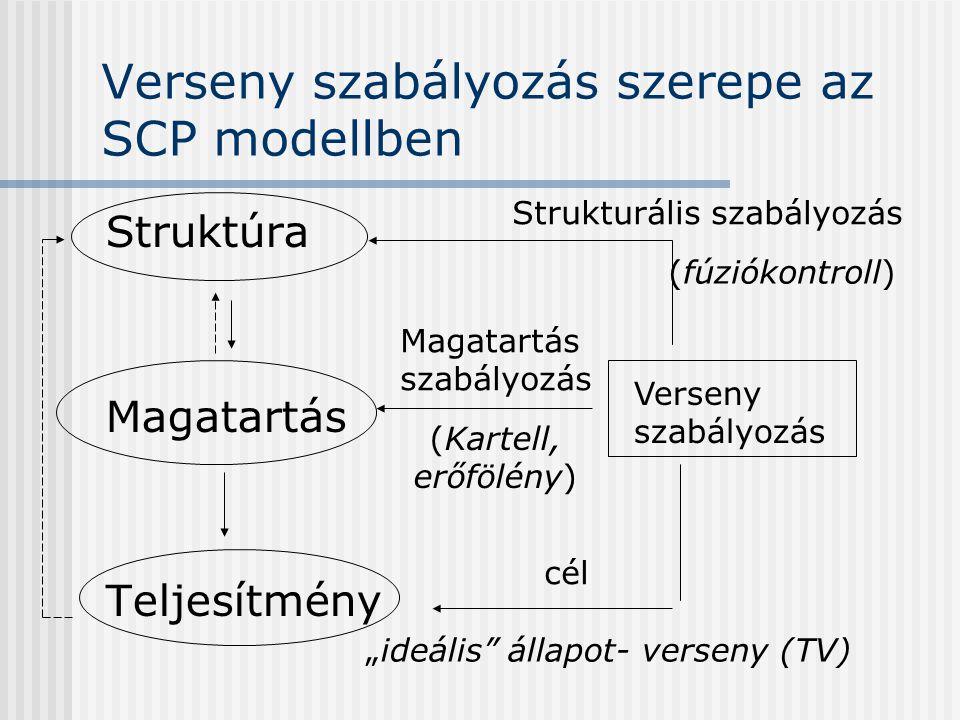 Verseny szabályozás szerepe az SCP modellben