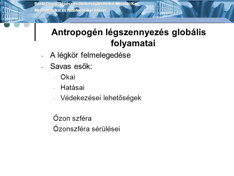 Antropogén légszennyezés globális folyamatai