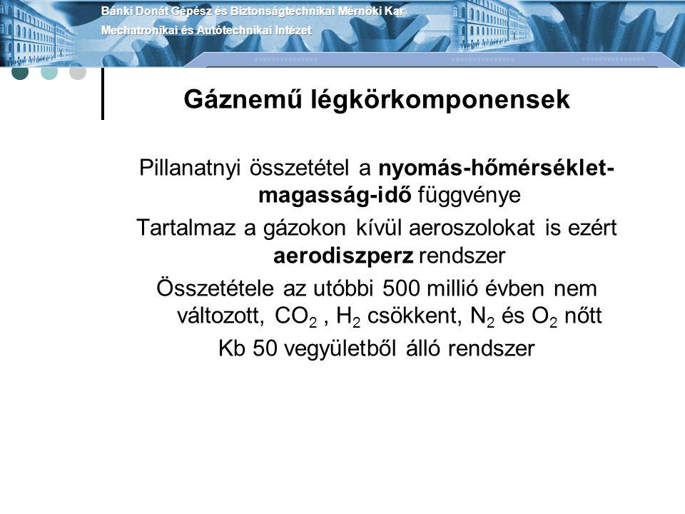 Gáznemű légkörkomponensek