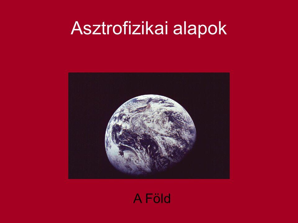 Asztrofizikai alapok A Föld