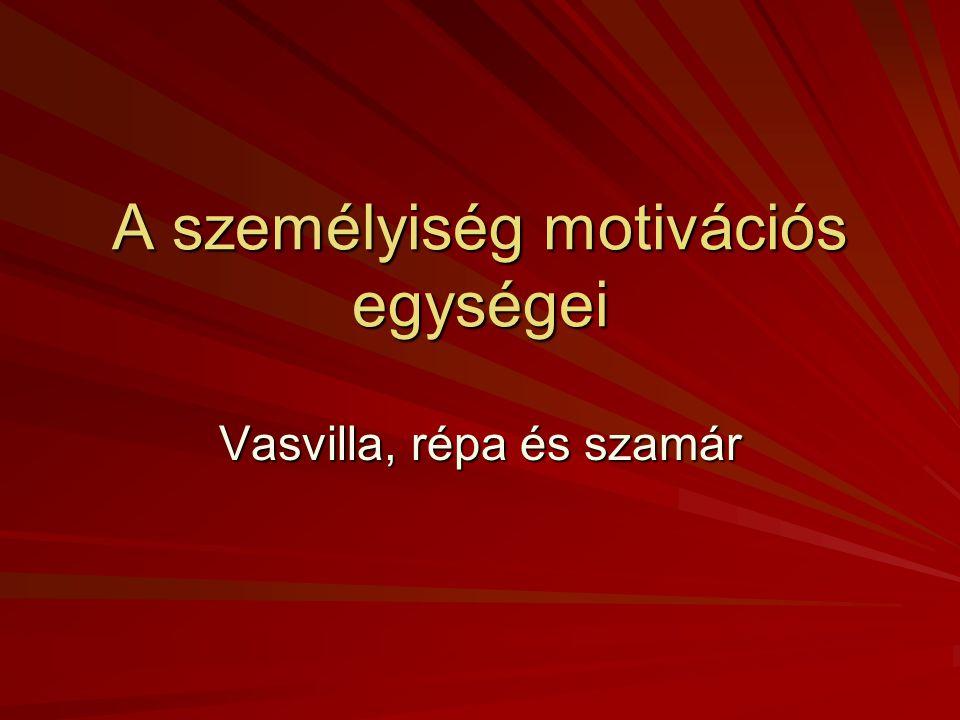 A személyiség motivációs egységei