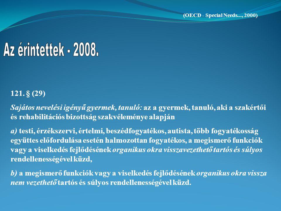 (OECD - Special Needs..., 2000) Az érintettek - 2008. 121. § (29)
