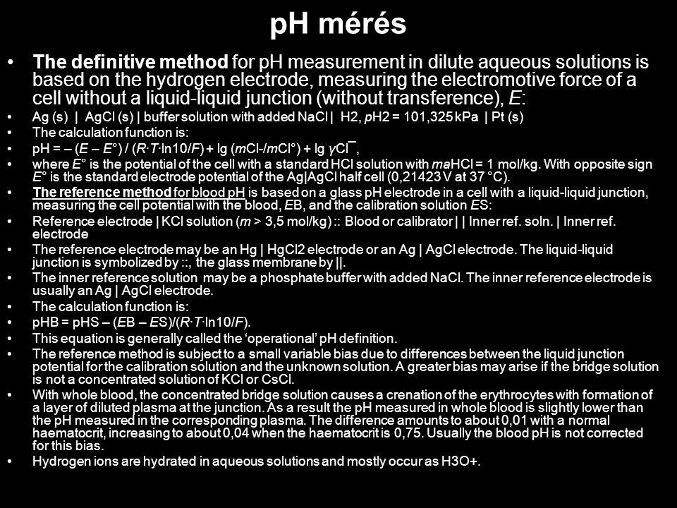 pH mérés
