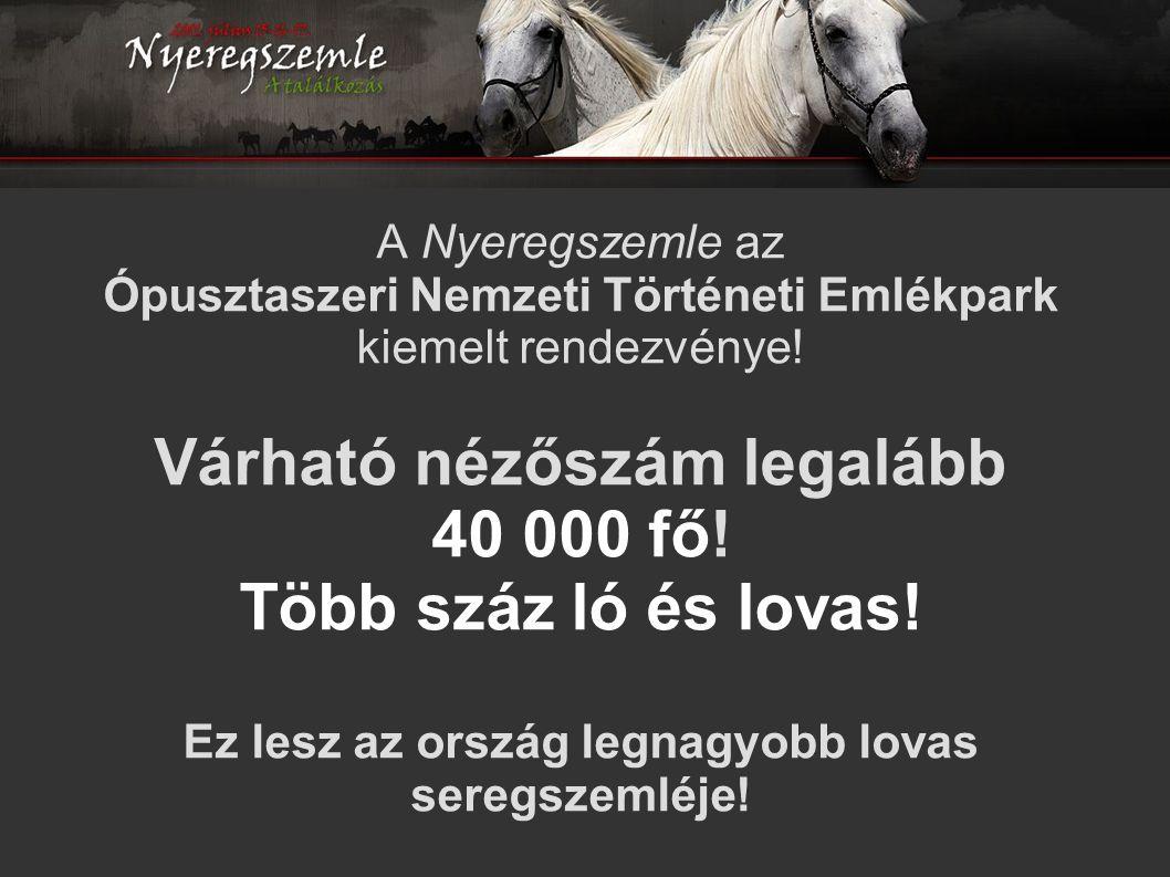 A Nyeregszemle az Ópusztaszeri Nemzeti Történeti Emlékpark kiemelt rendezvénye.