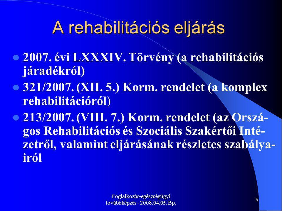 A rehabilitációs eljárás