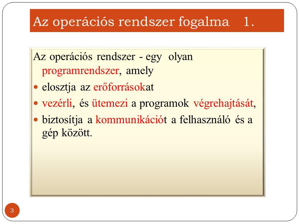 Az operációs rendszer fogalma 1.