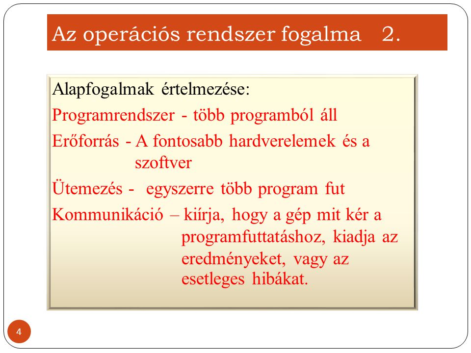 Az operációs rendszer fogalma 2.