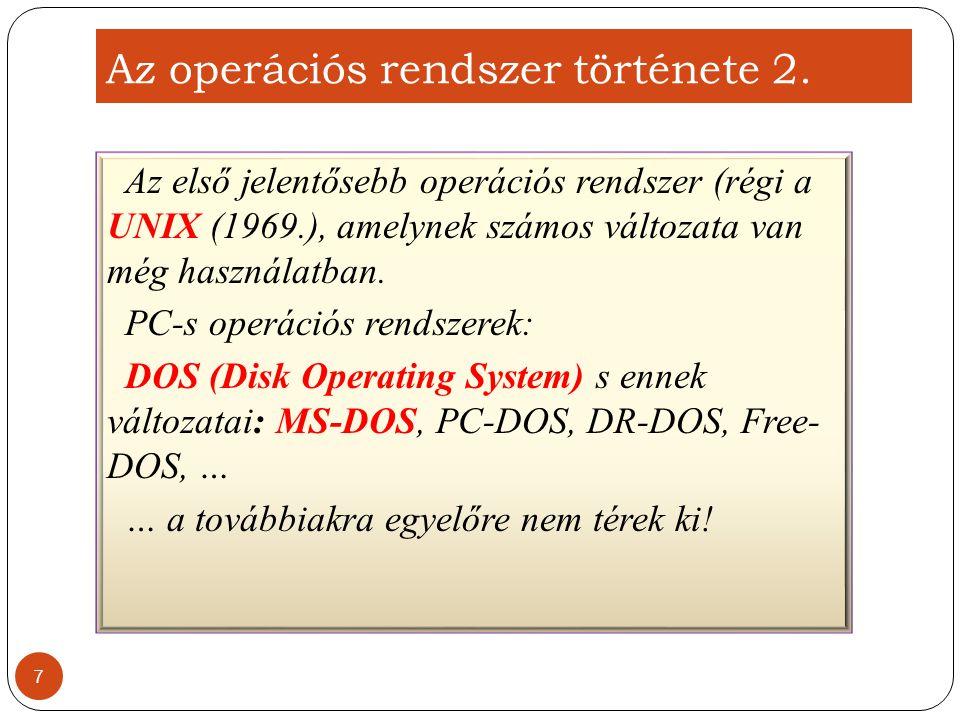 Az operációs rendszer története 2.