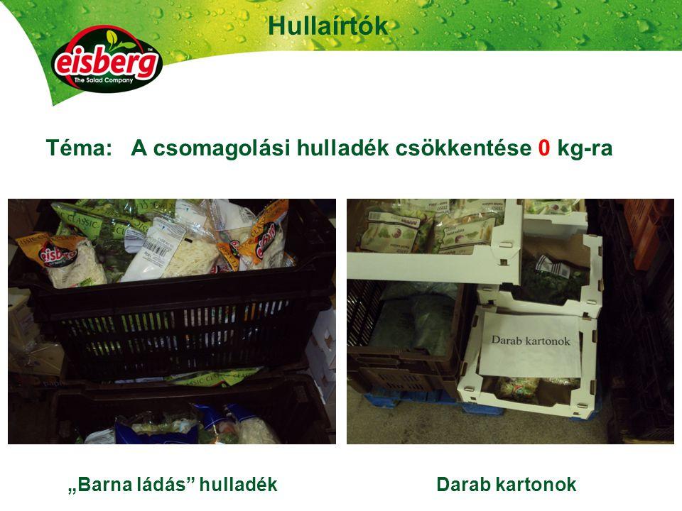 Hullaírtók 23 Téma: A csomagolási hulladék csökkentése 0 kg-ra