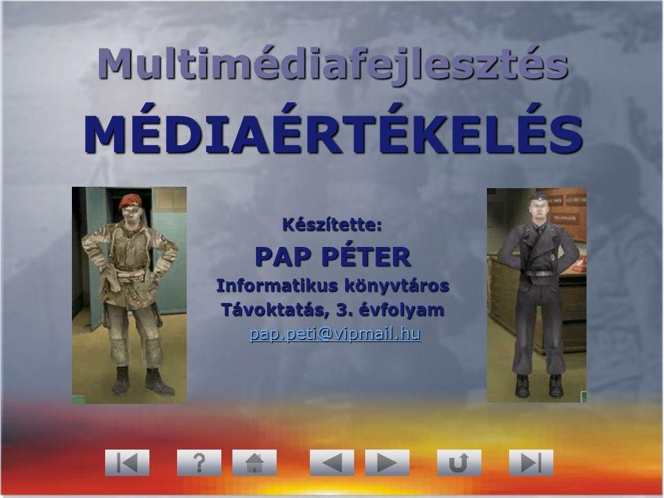 Multimédiafejlesztés Informatikus könyvtáros
