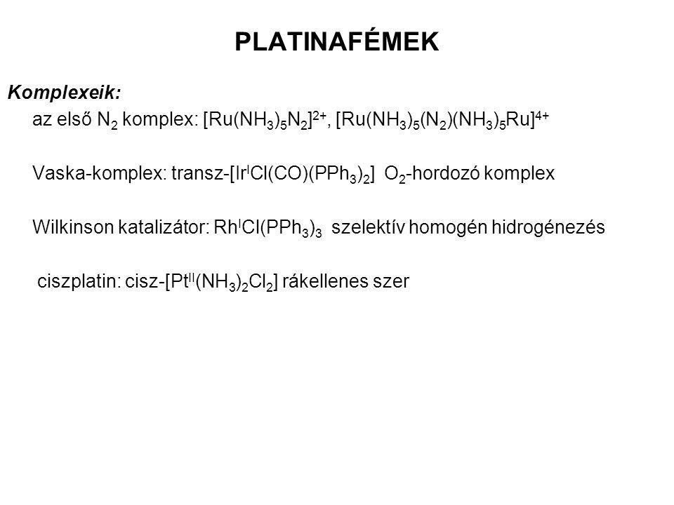 PLATINAFÉMEK Komplexeik: