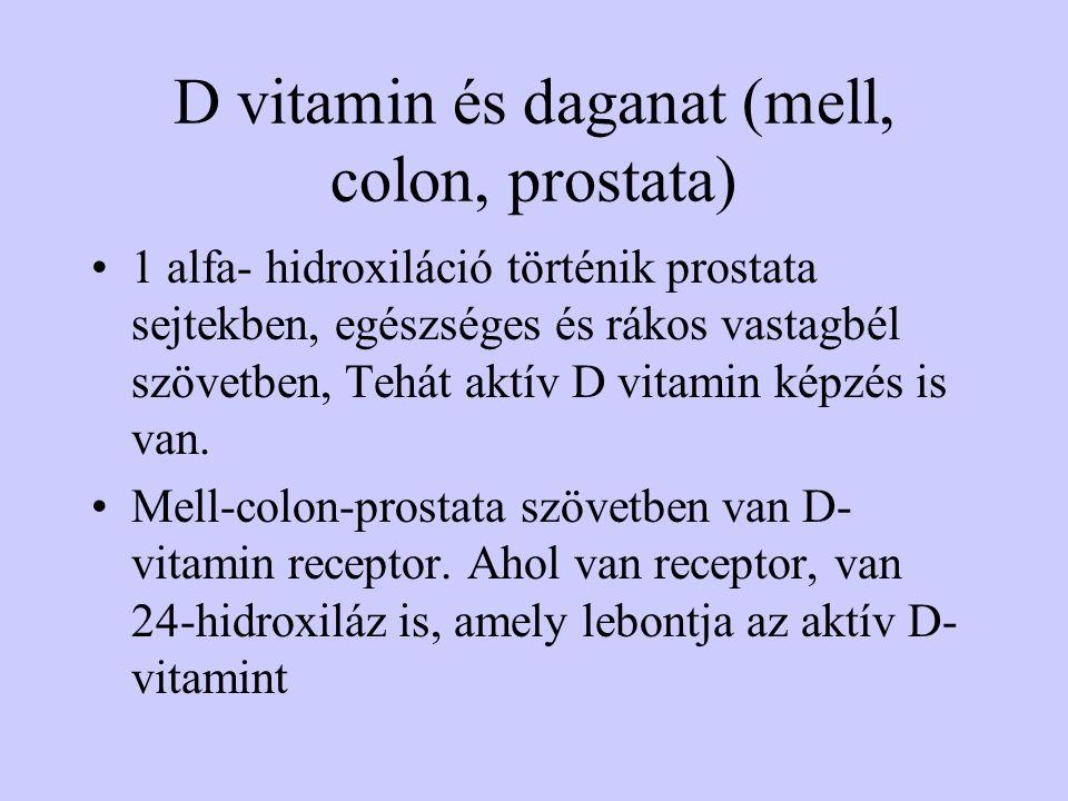 D vitamin és daganat (mell, colon, prostata)