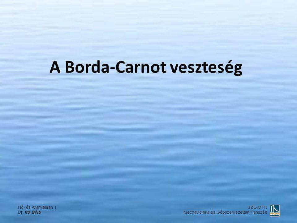 A Borda-Carnot veszteség