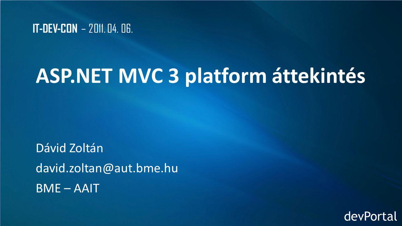 ASP.NET MVC 3 platform áttekintés