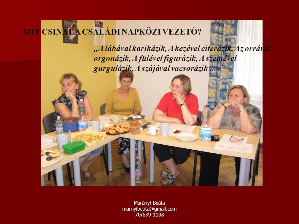 Murányi Beáta murnyibeata@gmail.com 70/639-1108