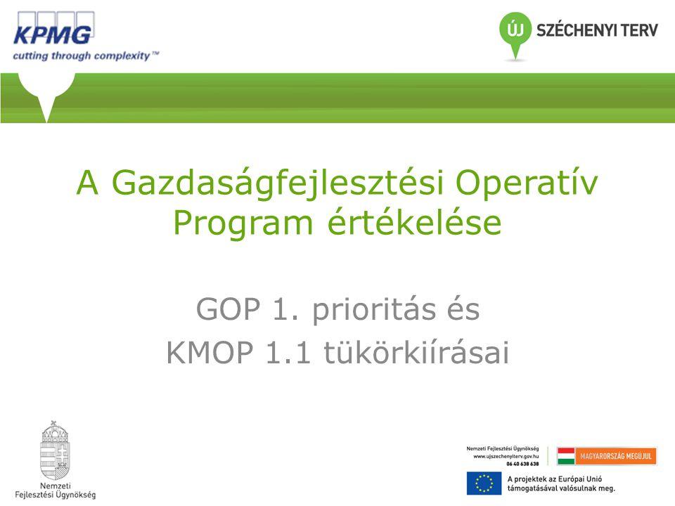A Gazdaságfejlesztési Operatív Program értékelése