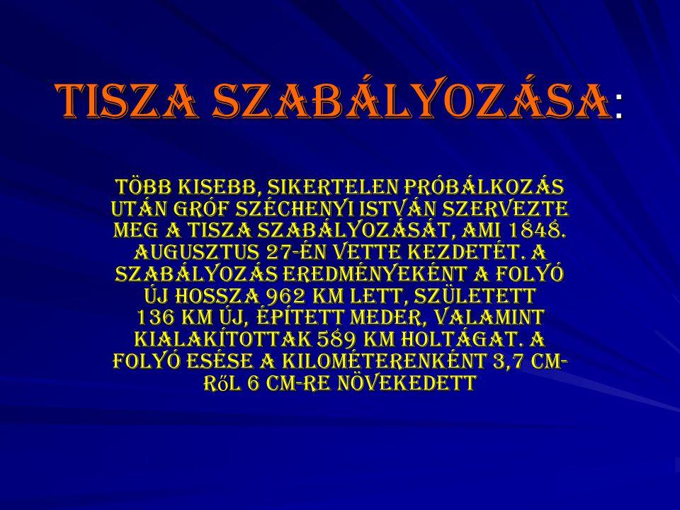 Tisza szabályozása: