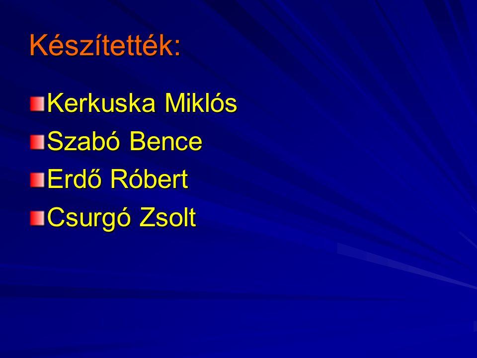 Készítették: Kerkuska Miklós Szabó Bence Erdő Róbert Csurgó Zsolt
