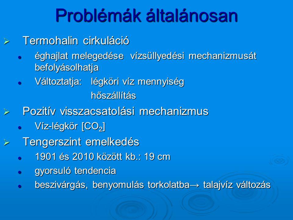 Problémák általánosan