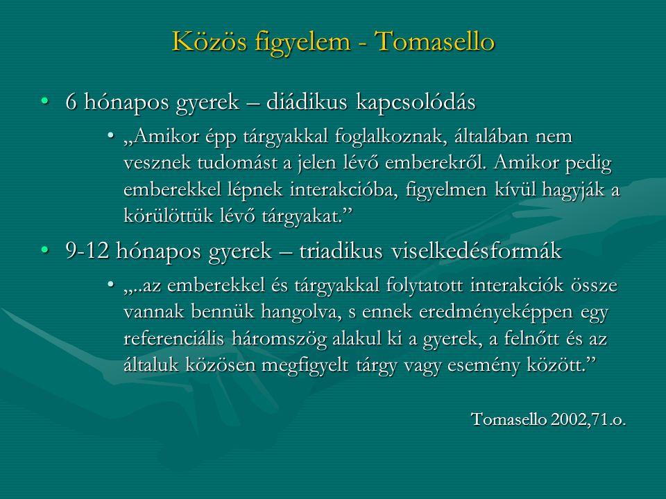 Közös figyelem - Tomasello