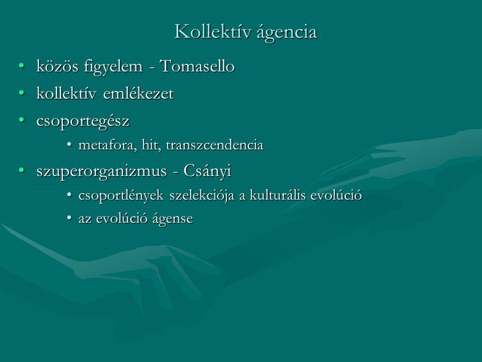 Kollektív ágencia közös figyelem - Tomasello kollektív emlékezet