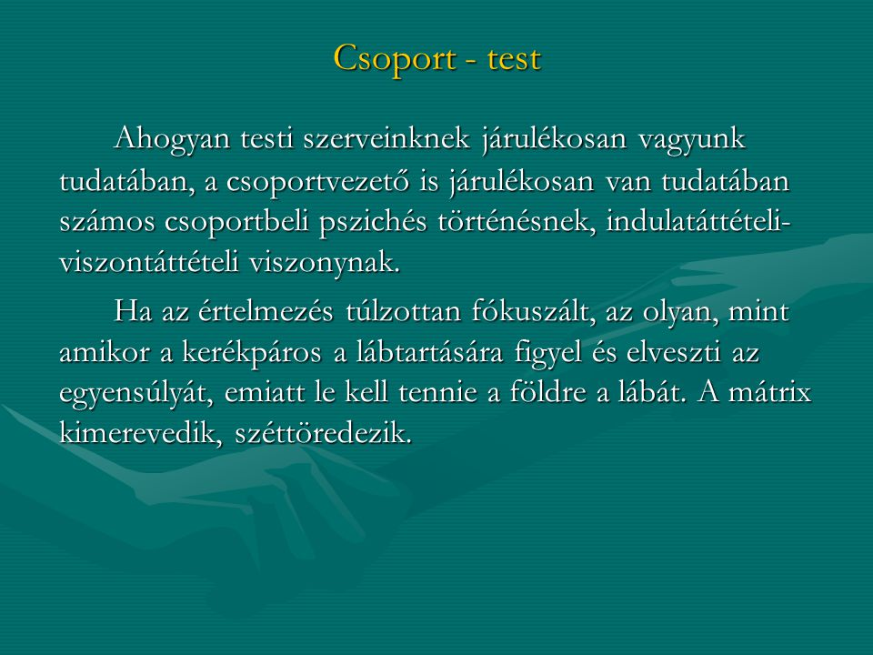 Csoport - test